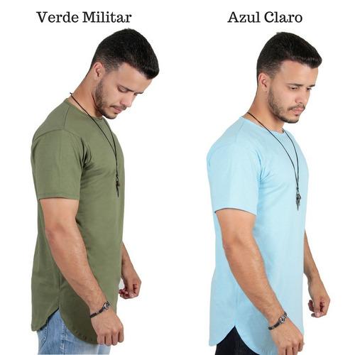 5fa024db38d22 kit 4 un camiseta camisa longline oversized longa alongada. camiseta camisa  longline oversized masculina longa alongada. Carregando zoom.