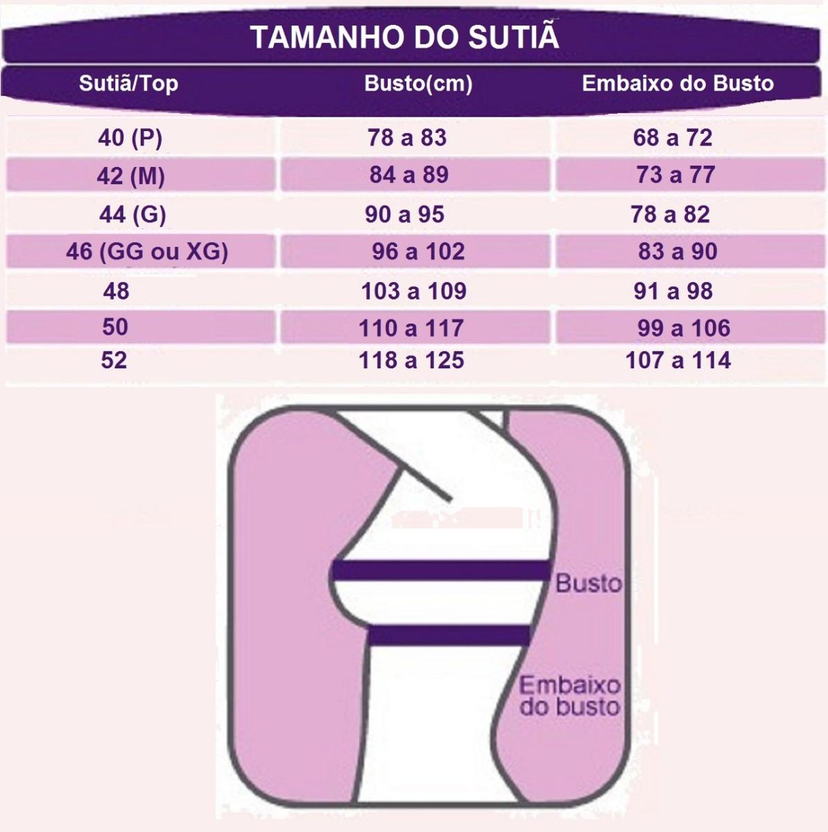 8c7f31548 Kit 5 Sutiã Top Tomara Que Caia C  Bojo Alça Tripla Tiras - R  70