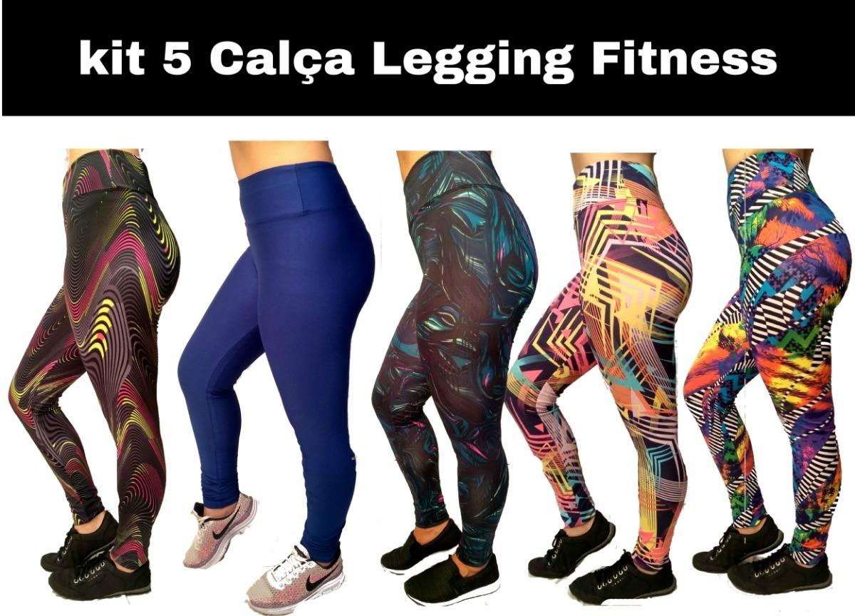 749f8e35d kit5calças legging fitness feminina em promoção oferta leg. Carregando zoom.