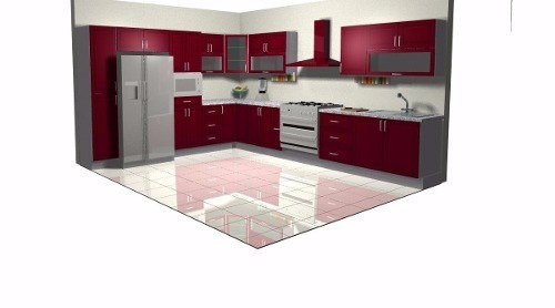 Kitchen draw dise o y plano de cocinas integrales 600 for Planos y diseno de muebles