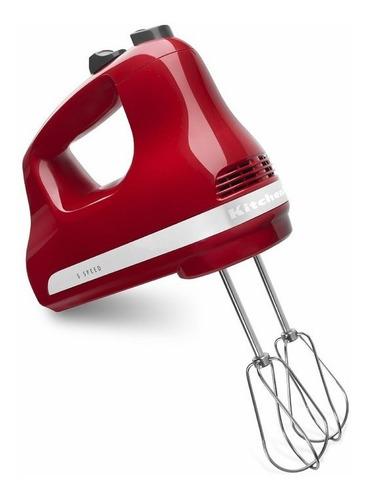 kitchenaid, batidora manual, 5 velocidades rojo khm512er.