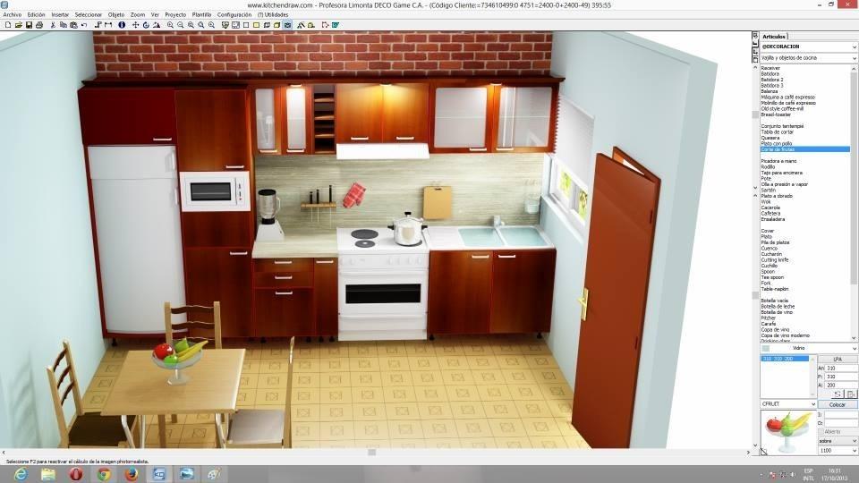 Kitchendraw 6.5 Programa De Diseño De Cocinas Y Baños+horas ...