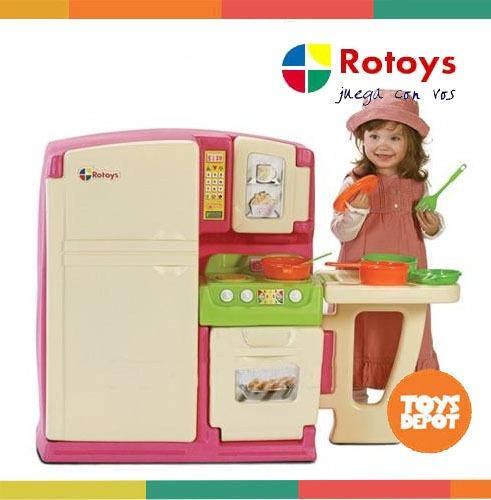 kitchinet de rotoys cocina completa heladera, microondas
