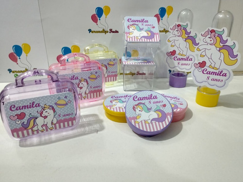 kit*festa  personalizado tema unicórnio (180 itens)