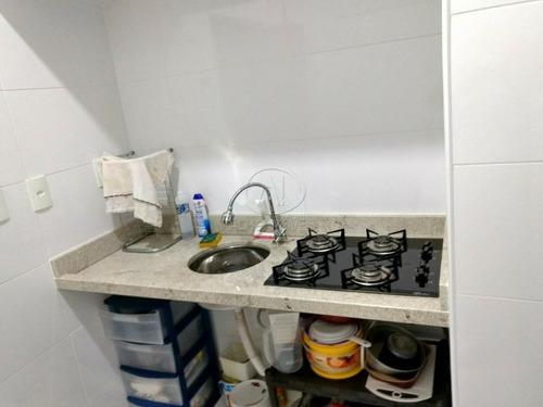 kitnet com 1 dormitório, mobiliado, frente praia, para alugar, 38 m² por r$ 1.300/mês - embaré - santos/sp - kn0131