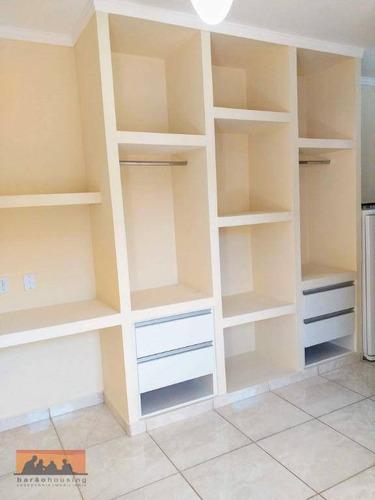 kitnet com 1 dormitório para alugar, 22 m² por r$ 1.000,00/mês - cidade universitária - campinas/sp - kn0469
