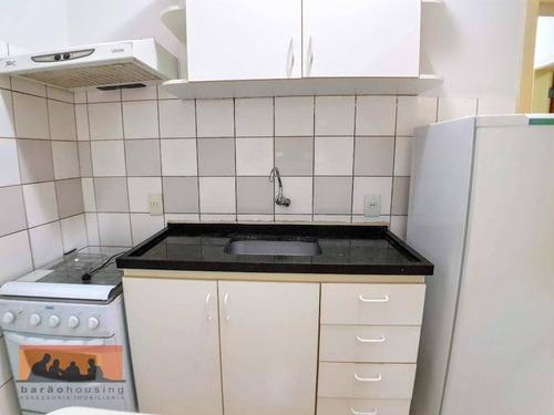 kitnet com 1 dormitório para alugar, 30 m² - cidade universitária - campinas/sp - kn0069