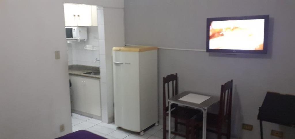 kitnet com 1 dormitório para alugar, 35 m² por r$ 1.200/mês - embaré - santos/sp - kn0508