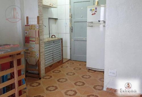 kitnet com 1 dormitório à venda, 23 m² por r$ 77.000,00 - cidade ocian - praia grande/sp - kn0125
