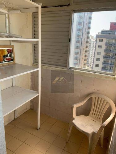 kitnet com 1 dormitório à venda, 25 m² por r$ 130.000 - vila guilhermina - praia grande/sp - kn0097