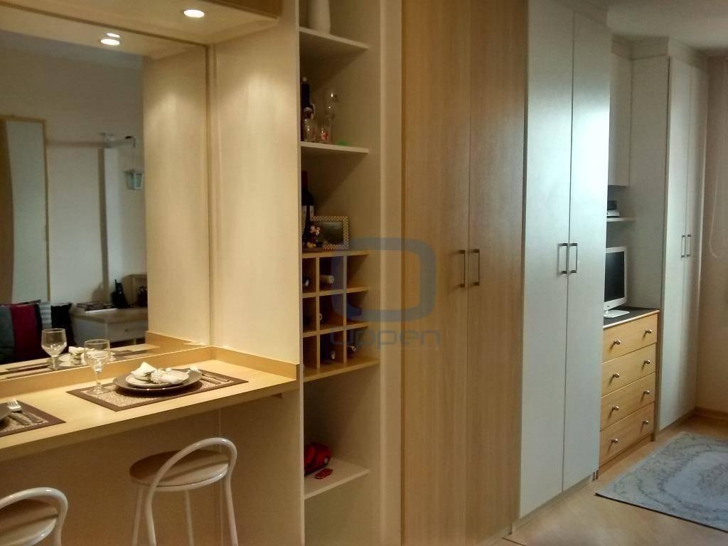 kitnet com 1 dormitório à venda, 28 m² por r$ 165.000 - centro - campinas/sp - kn0002