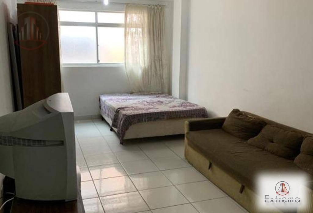kitnet com 1 dormitório à venda, 30 m² por r$ 100.000,00 - aviação - praia grande/sp - kn0144