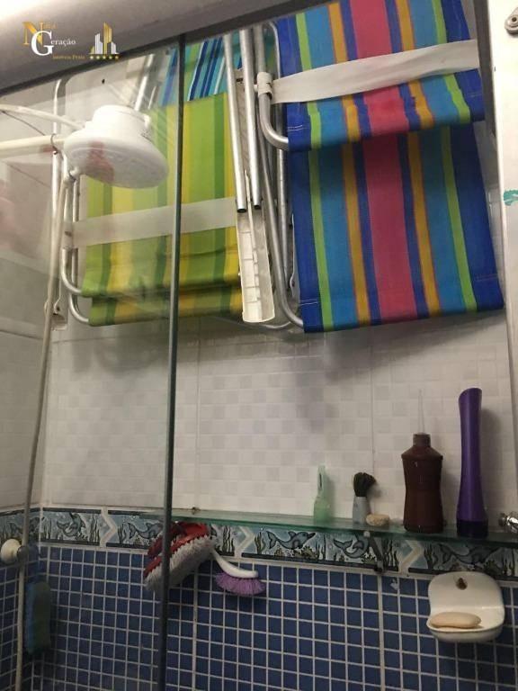kitnet com 1 dormitório à venda, 30 m² por r$ 105.000,00 - aviação - praia grande/sp - kn0268