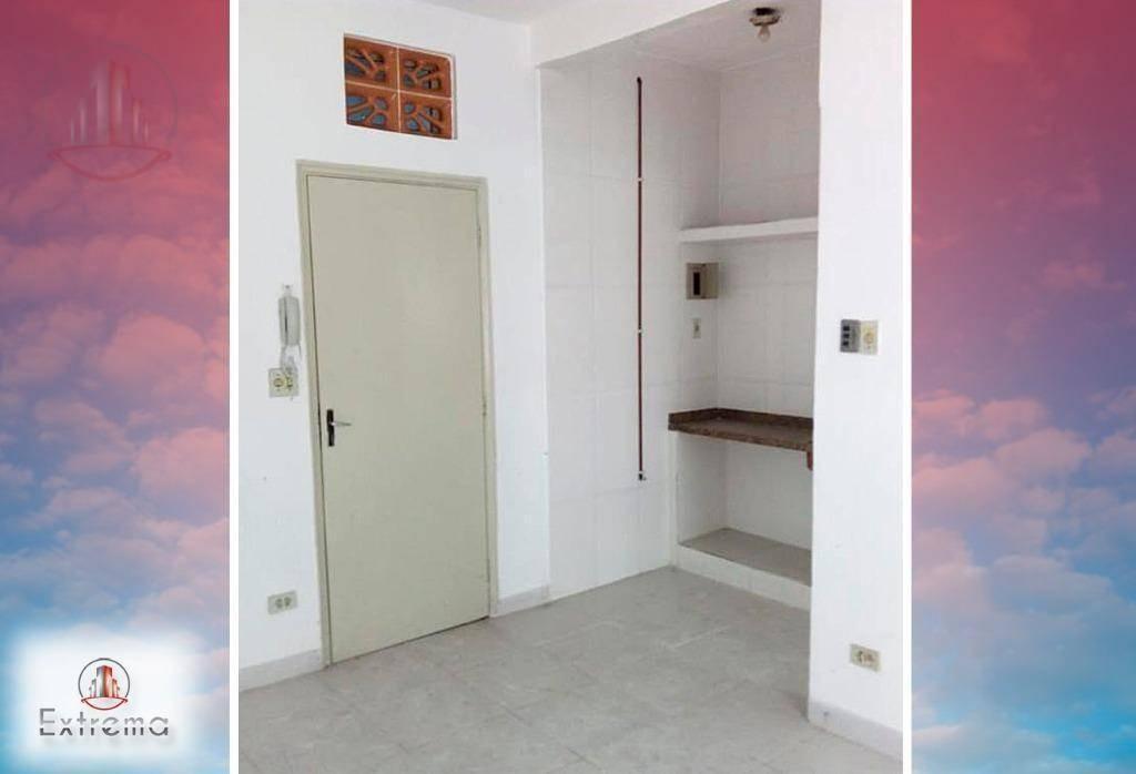 kitnet com 1 dormitório à venda, 30 m² por r$ 109.000,00 - boqueirão - praia grande/sp - kn0146