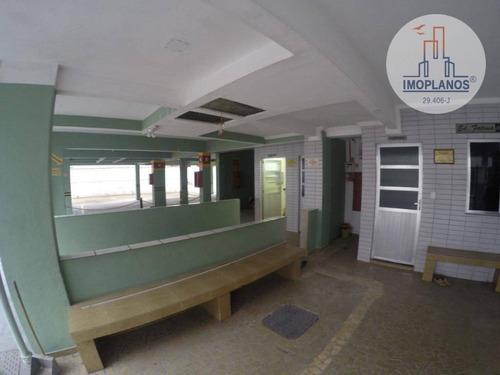 kitnet com 1 dormitório à venda, 30 m² por r$ 110.000,00 - campo da aviação - praia grande/sp - kn0682
