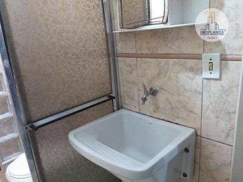 kitnet com 1 dormitório à venda, 30 m² por r$ 120.000 - campo da aviação - praia grande/sp - kn0634