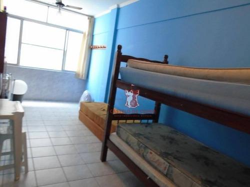 kitnet com 1 dormitório à venda, 30 m² por r$ 145.000 - boqueirão - praia grande/sp - kn0151
