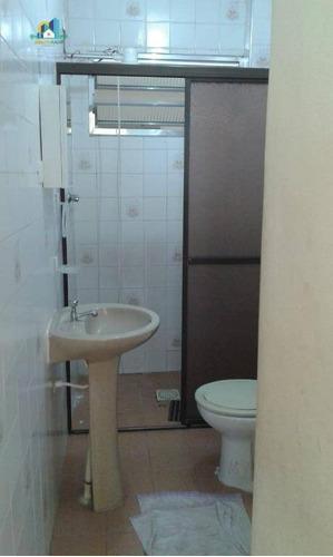kitnet com 1 dormitório à venda, 32 m² por r$ 100.000 - campo da aviação - praia grande/sp - kn0201
