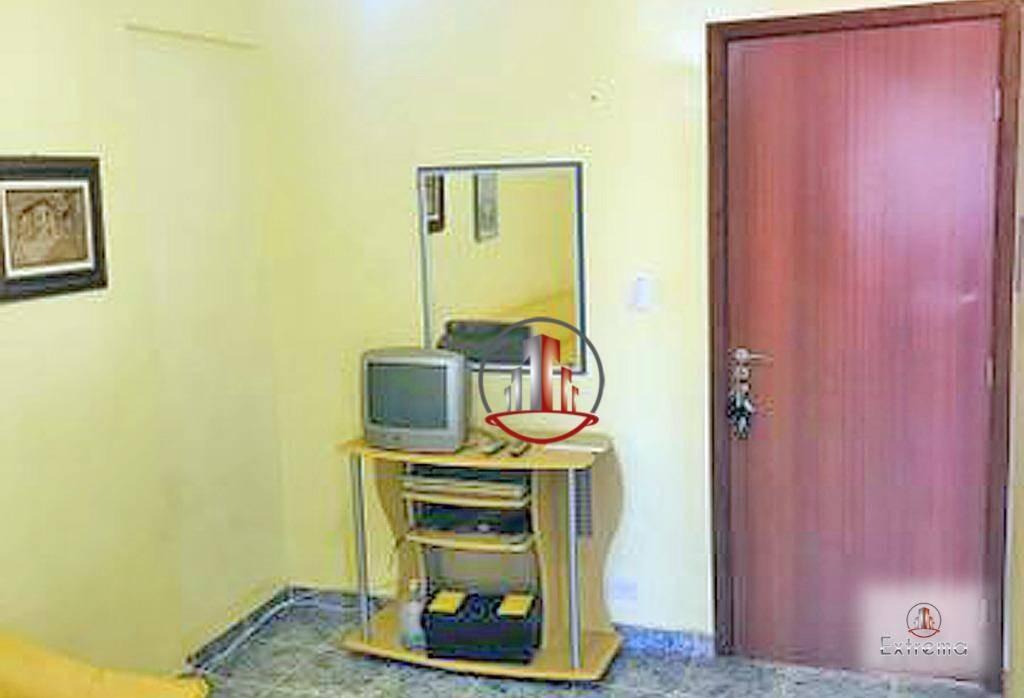 kitnet com 1 dormitório à venda, 32 m² por r$ 115.000,00 - vila guilhermina - praia grande/sp - kn0179