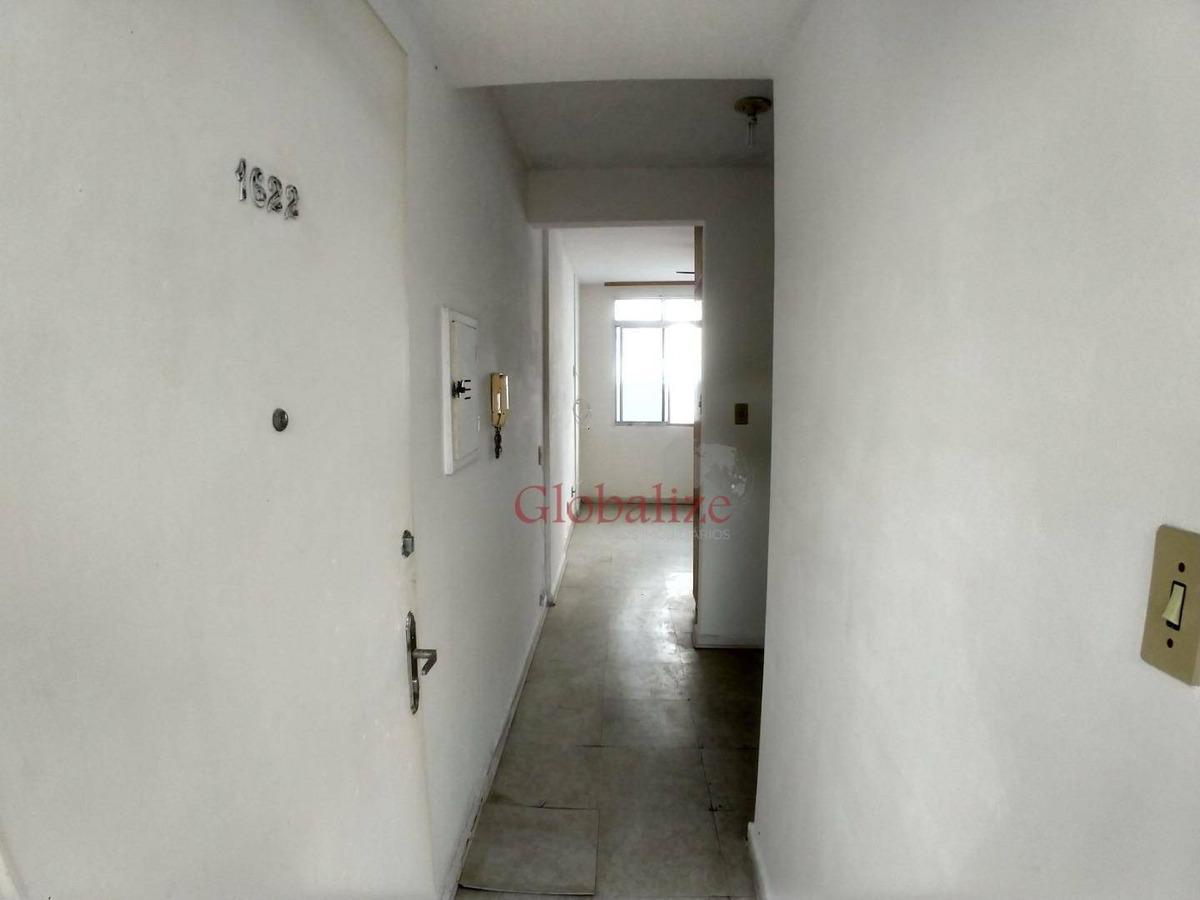 kitnet com 1 dormitório à venda, 32 m² por r$ 160.000,00 - pompéia - santos/sp - kn0001