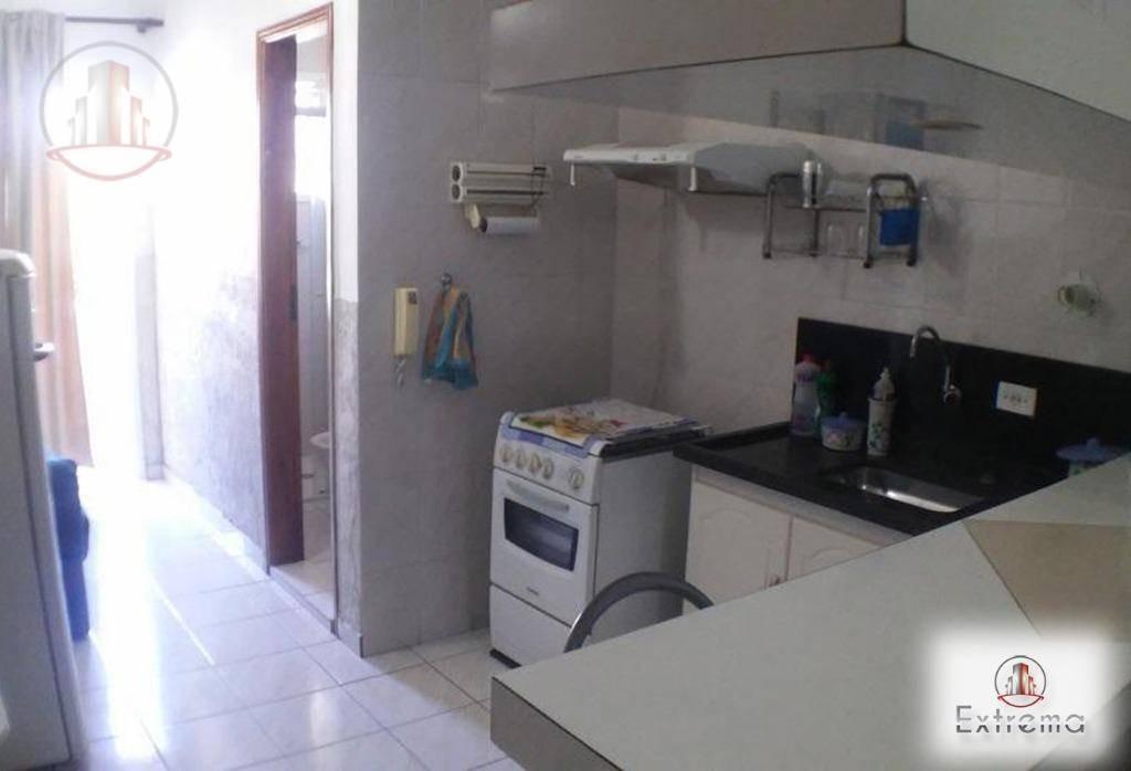kitnet com 1 dormitório à venda, 35 m² por r$ 120.000,00 - caiçara - praia grande/sp - kn0141