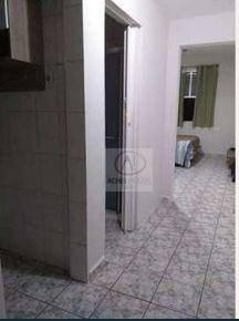 kitnet com 1 dormitório à venda, 35 m² por r$ 170.000 - josé menino - santos/sp - kn0221