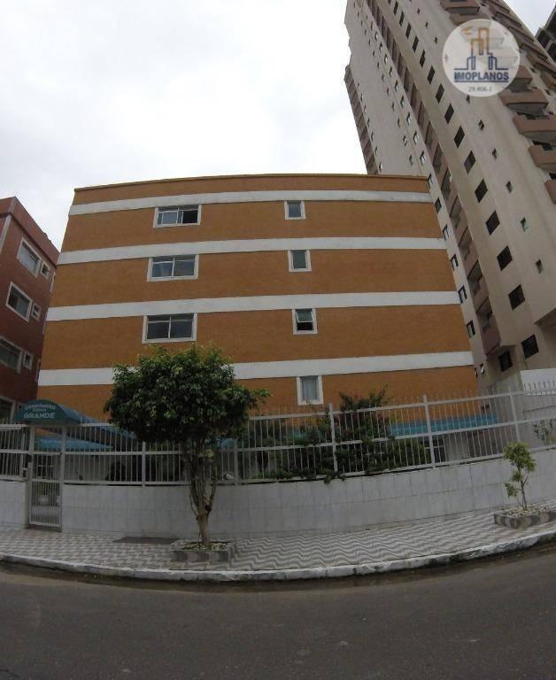 kitnet com 1 dormitório à venda, 40 m² por r$ 125.000 - campo da aviação - praia grande/sp - kn0523