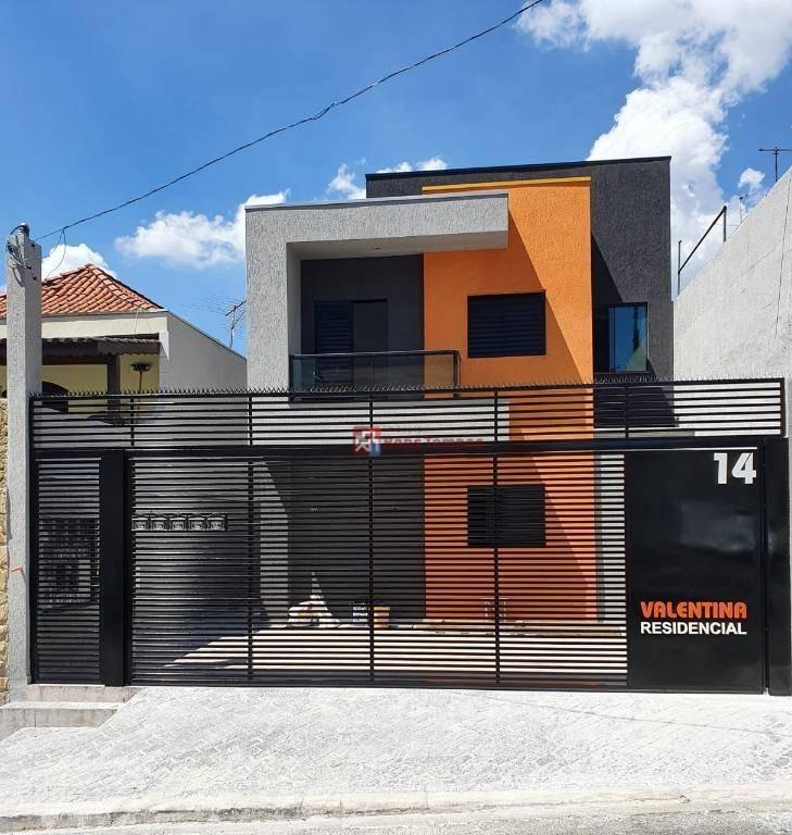kitnet com 2 dormitórios, 1 vaga  à venda, 45 m² por r$ 235.000 - vila carrão - são paulo/sp - kn0018