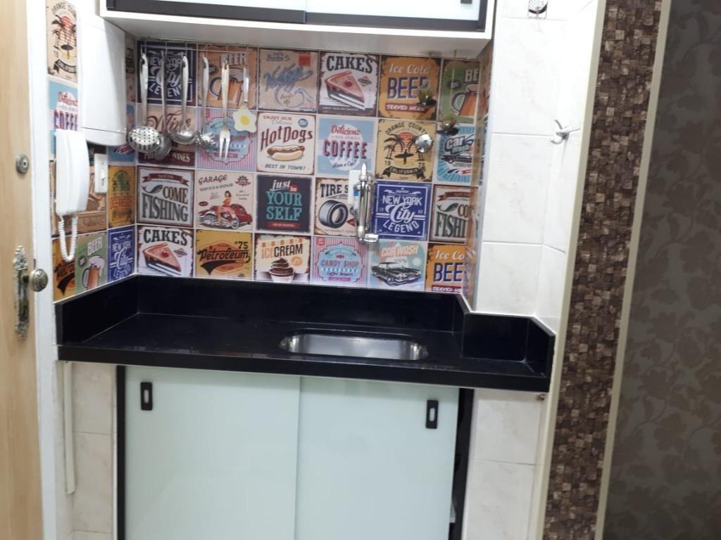 kitnet em boqueirão, santos/sp de 30m² à venda por r$ 200.000,00 - kn313759