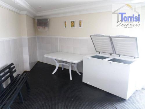 kitnet em praia grande, dividido para 01 dormitório, prédio com elevador,churrasqueira, salão de festas e jogos na tupi kn0123 - kn0123