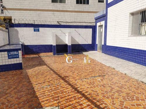 kitnet mobiliada com vaga de garagem a 2 quadras da praia no boqueirão - kn0145