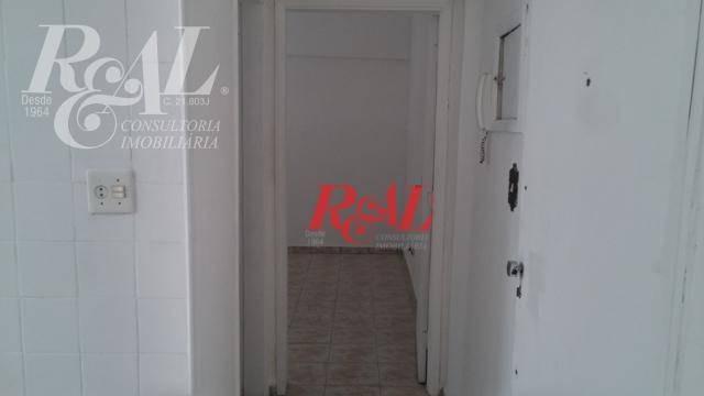 kitnet para alugar, 42 m² por r$ 1.600 - aparecida - santos/sp - kn0028