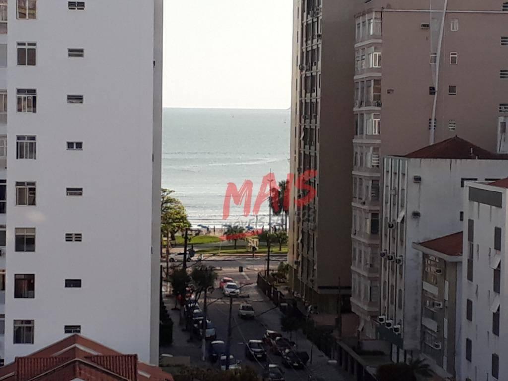 kitnet para alugar com vista para o mar, 37 m²,  aparecida - santos/sp - kn0152