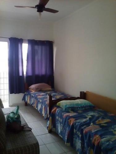 kitnet para venda em praia grande, solemar, 1 dormitório, 1 banheiro, 1 vaga - 230