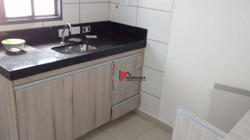 kitnet  residencial para locação, jardim brasil, atibaia. - kn0002