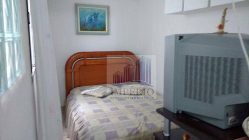 kitnet residencial à venda, vila guilhermina, praia grande. - kn0020