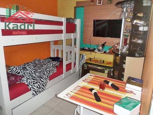 kitnet residencial à venda, vila guilhermina, praia grande - kn0029. - kn0029