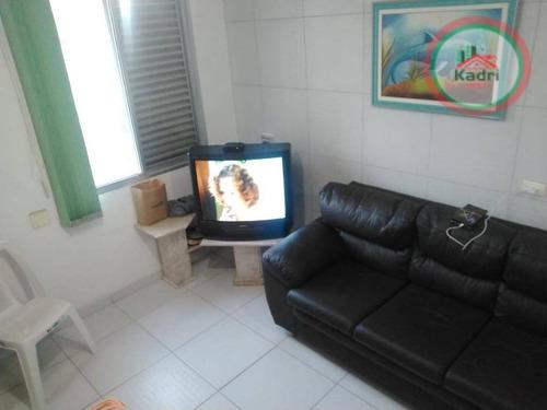 kitnet residencial à venda, vila guilhermina, praia grande. - kn0170