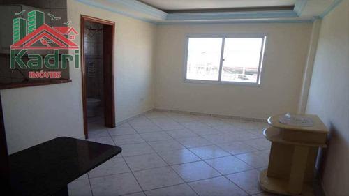 kitnet residencial à venda, vila mirim, praia grande. - kn0080