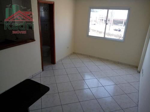 kitnet residencial à venda, vila mirim, praia grande. - kn0155