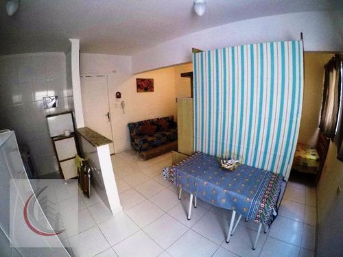 kitnet residencial à venda, vila tupi, praia grande - kn0017. - kn0017