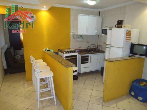 kitnet residencial à venda, vila tupi, praia grande. - kn0095