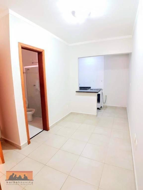kitnet térrea com divisória da cozinha para o dormitório, em frente unicamp. - kn0101