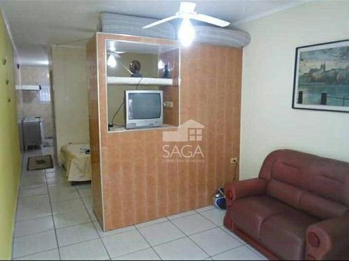 kitnet terreá dividida com 1 dormitório à venda, 35 m² por r$ 115.000 - canto do forte - praia grande/sp - kn0173