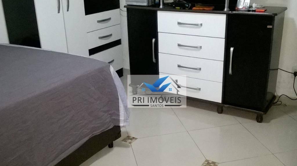 kitnet à venda, 30 m² por r$ 149.000,00 - josé menino - santos/sp - kn0020