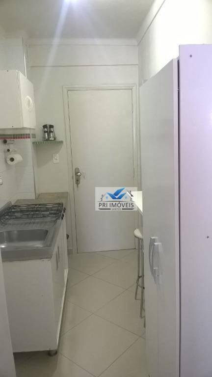 kitnet à venda, 30 m² por r$ 163.000,00 - josé menino - santos/sp - kn0020