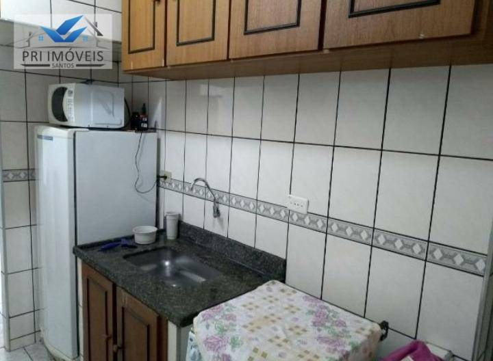 kitnet à venda, 30 m² por r$ 180.000,00 - josé menino - santos/sp - kn0009