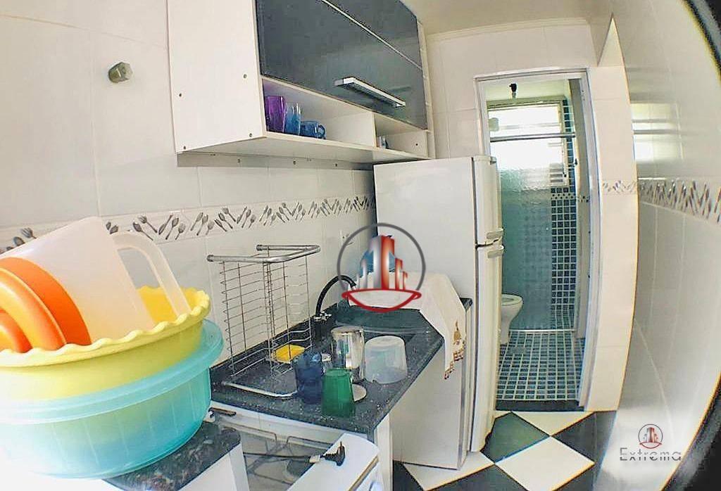 kitnet à venda, 35 m² por r$ 125.000,00 - vila guilhermina - praia grande/sp - kn0237