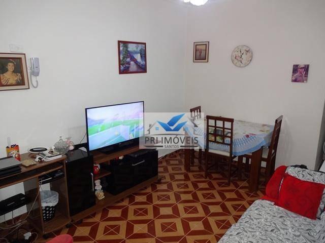 kitnet à venda, 43 m² por r$ 260.000,00 - ponta da praia - santos/sp - kn0007