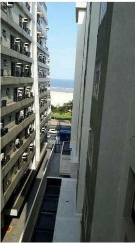 kitnete reformada = prédio frente ao mar = vaga de garagem - kn0041